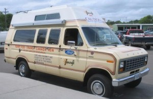The infamous van, restored in 2007