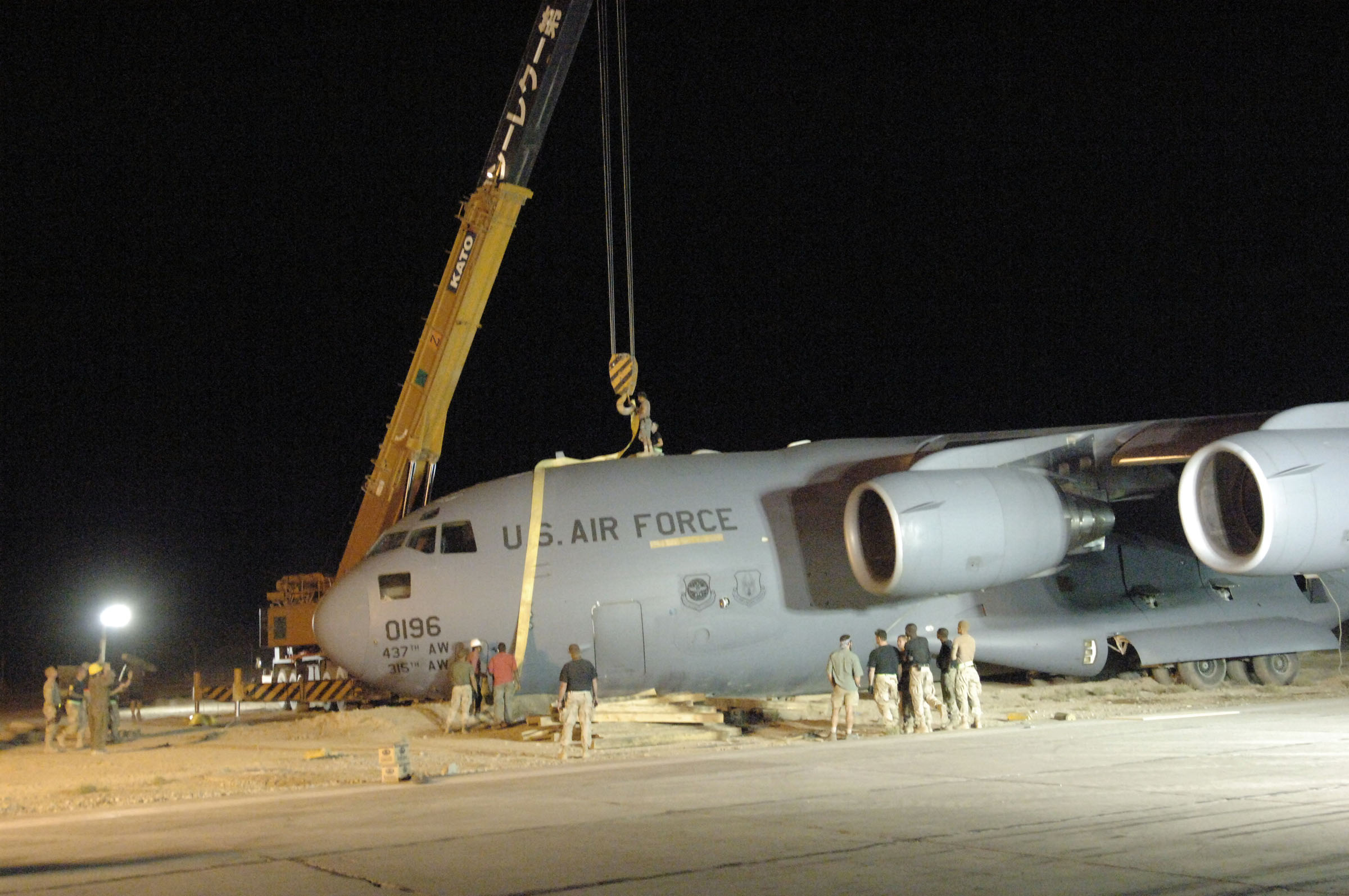 C-17 at Bagram in 2005  C 17 Crash