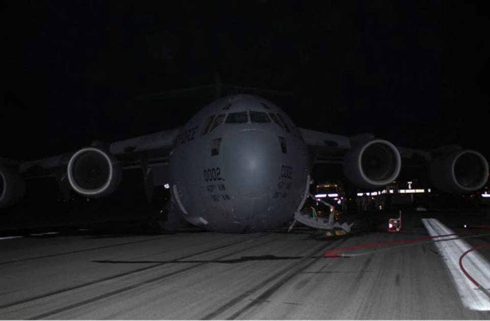 crippled-c-17 bagram-air-  C 17 Crash